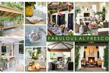 KKDL TRENDWATCH 2017: FABULOUS AL FRESCO / Entertaining is big in the design industry so we envision 2017 to be the year that the indoors moves outward, creating a lively, yet comfortable setting for family dinners, soirees, and winding down. Featuring pieces normally found inside the home, like accent tables, throw blankets, and art, Fabulous Al Fresco offers a thoughtful solution to hosting family and friends by moving the party to a sunnier location, like the deck, porch, or outdoor kitchen. / by Kerrie Kelly Design Lab