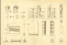 Vintage Technical Drawings / Vintage and antique technical drawings.