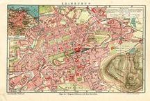City maps / Vintage and antique city maps. These city plans are used for home decor, genealogy and bought by collectors.