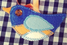 Bluebirds / A tribute board to our beautiful little bird