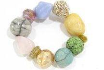 Ceramic And Stone / A new collection of jewelry pieces incorporating handmade ceramic beads and semi precious stones.