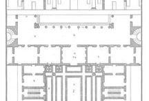 Architecture - Antique Floor Plans