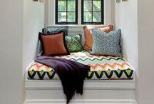 nooks. / #comfortable #nooks #designinspiration / by brettVdesign - interior designer + blogger