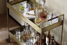 Bar Cart / A collection of my favorite bar carts / by Gastronomista