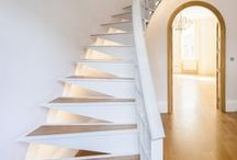 Montagu Stairs / The staircase at Montagu Square is a complex steel plate design where each element is used to add support and stiffen.  Architect / Designer: Waind Gohil + Potter Architects -  Photography: Anthony Coleman