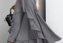 Styel-Dresses Unique / High low, & Pant dress.