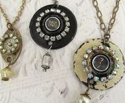 Steampunk / Gadgets, gears, charms, metals, chain...all the wonderment of glorious steampunk!