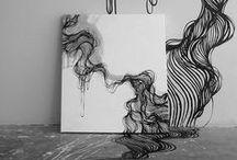 CANVAS / Ink on canvas by Giuliano Martinuzzo