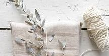INSPIRATION- linen+lace+vintage / The lovely textures of linen, lace and worn vintage props