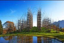ART: Land Art / Andy Goldsworthy, Scotland - Nils Udo, Germany -  Patrick Doughtery - Jim Denevan, Sand Design -  Burning Man, Nevada -  ... / by martine besseteaux