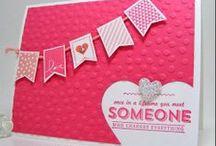 Crafty lady creates cards
