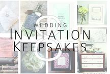 Invitation keepsakes / Great Ideas about what to do with your wedding invitations to turn them into keepsakes you will cherish!
