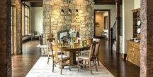 A 21st Century Timber framed homes / A stunning Northern Michigan Home with stone and timber finishes!