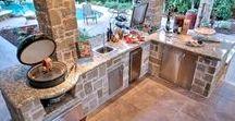 Beautiful Backyard Kitchen / Board Dedicated to Outdoor Kitchen