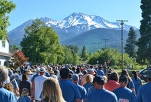 Mt. Shasta: 4th of July  / Join the fun-run/walk at 8:30 am, parade at noon, and fireworks over Lake Siskiyou at dusk. Booths and live music downtown. A big celebration for a small town!