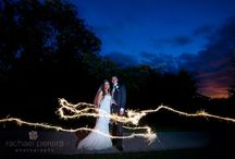 Creative evening wedding photos / Creative photos using flash and other lighting at weddings at night by Rachael Pereira Photography www.rachaelpereira.com