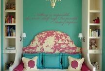 Tiffany Room / Tiffany blue, egg shell blue, powder blue and even a hint of mint / by Nazlin Hazhar
