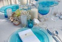 mariage turquoise blanc ivoire - {turquoise white ivory wedding}