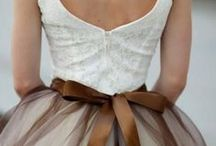 Mariage ivoire & chocolat - { ivory & brown }