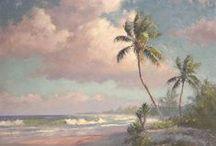 "A.E. ""Bean"" Backus / Albert Ernest ""Bean"" Backus (January 3, 1906 – June 6, 1990) was an American artist famous for his vivid Florida landscapes."