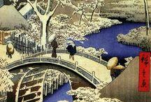 Ando Hiroshige / Utagawa Hiroshige (Japanese: 歌川 広重), also Andō Hiroshige (Japanese: 安藤 広重; 1797 – 12 October 1858) was a Japanese ukiyo-e artist, considered the last great master of that tradition.