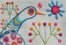 embroidery . stitching