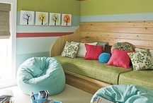 Playroom / Fun ideas for the modern playroom. Kid friendly decor, colorful printables, toy storage ideas and more! / by Michelle Barneck {A Little Tipsy}