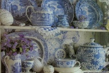 Everything blue and white / Love blue and white ceramics and textiles.  / by Joan Saloomey