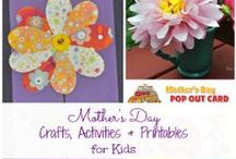 Celebrating Moms: Mother's Day Crafts & Ideas for Kids / Cute Mother's Day crafts, activities, and ideas for kids to have fun and celebrate the women in their lives!