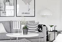 MSP | LIVING ROOM / HOME DECOR, INTERIORS, LIVING ROOM, MINIMAL, GREY , BLACK AND WHITE LIVING ROOM