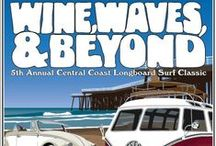 Wine, Waves & Beyond 2014 / This classic surf and wine event celebrates the best of San Luis Obispo County. Combining the fun, laid back atmosphere of our wine country and unique surf culture, enjoy four days of unforgettable events evoking the magic of wine and waves. These events take place at numerous scenic venues throughout San Luis Obispo County. All proceeds go to support the Association of Amputee Surfers (AmpSurf).  / by Pismo Beach