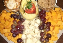 Platters / Fresh fruits, cheeses and dried meats makes these food platters both delicious and decorative.