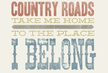 Where the Blacktop Ends... / ♫♫...Gonna kick off my shoes  And run in bare feet  Where the grass and the dirt and the gravel all meet Goin' back to the well gonna visit old friends And feed my soul where the blacktop ends. ♫♫