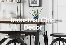 Industrial Chic Decor / You don't have to live in a warehouse loft to bring the industrial chic style home. The mix of metals and rustic woods works in any space. Here some ways create the urban style. / by Overstock
