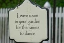 Fairy Garden / I am planning my fairy garden and collecting ideas.