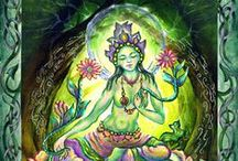 Green Tara / Understanding all life (my love took a Green Tara with him from a Buddhist monestary in Mongolia and I love what she empowers)