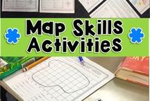Map Skills for Continents and Oceans / CONTINENTS/ OCEANS/ AND MAP SKILLS. IDEAS,  LESSONS, AND ACTIVITIES TO HELP TEACHERS AND MAKE LEARNING FUN FOR STUDENTS.