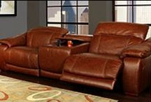 Father's Day / Makeover your home with masculine accents like leather seating and oversized entertainment centers.