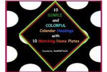 Non Thematic COLORFUL CLASSROOMS / Decorations and ideas for classrooms that do not want to be stuck with a specific theme.