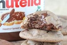 Super Delicious Nutella Recipes / These tasty Nutella recipes are so flavorful. They're some of the best desserts and sweet treats ever. Chocolate recipes have honestly never tasted as good as these cookies, cakes, crepes, etc. / by AllFreeCopycatRecipe