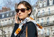Tie a scarf / Mil e uma maneiras de usar lenços.
