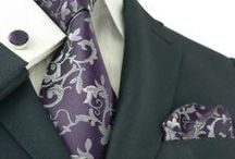 Wedding Silk Tie Set / Wedding Silk Tie Sets - Many many colors available. Comes with matching tie, hanky and cufflinks.