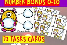 Math Resources for PreK -1st Grade / This board is filled with math activities, lessons, hands-on games, and printables all related to giving you ideas to teach math in your PreK, Kindergarten, and 1st grade classrooms.  #prekmath #kindergartenmath #firstgrademath #math #mathactivities #mathlessons #mathforkids