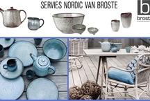 Broste servies Nordic  / Dit prachtige servies is van Broste. In blauw-grijze tinten geglazuurd. Het mooiste servies dat ik tot nu toe in mijn leven ben tegengekomen!