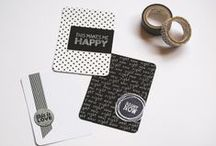 PROJECT LIFE | cards / inspiration for photo design and journaling & filller cards for #projectlife