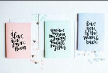 ART & DESIGN | stationery / beautiful inspirational stationery