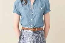 SEQUINS + DENIM / by Amy