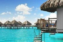 TAHITI/BORA BORA / I was very fortunate to live in Tahiti for three years as a teenager. My parents took me to Bora Bora several times and I went back for my honeymoon.  It is truly a very beautiful, magical place.