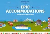 Booking Epic Infographics / At Booking.com, we believe that every stay should be epic, and that most people aspire to be adventurous by staying somewhere new and unexpected. So join us on this adventure — learn where your fellow travellers prefer to stay, explore some of the most unusual accommodations on Planet Earth and challenge yourself to make each stay, and trip you take, epic.