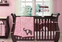 Pink Elephant / Carter's Baby Elephant Baby Crib Bedding